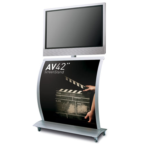 "AV42"" Screen Display -  Graphic Flat Screen TV Display Stand"