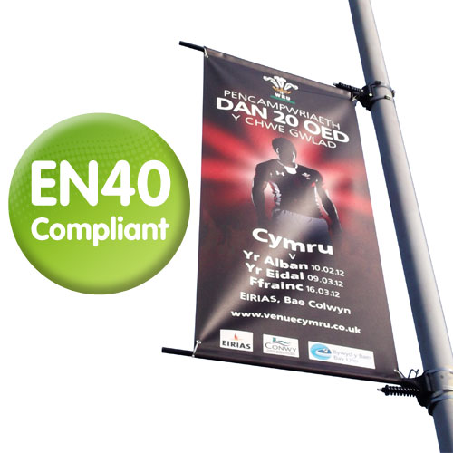 Euro Chieftain Lamp Column Banner System -  EN40 Compliant