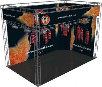 Walker Fire - Small Exhibition Stand Hire - Render