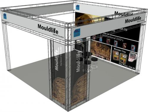 Mouldlife - Medium Exhibition Stand Hire - Render