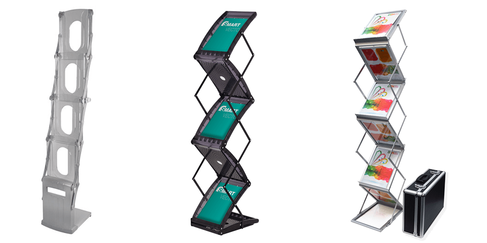 Portable Exhibition Solutions : Literature stands leaflet holders brochure racks