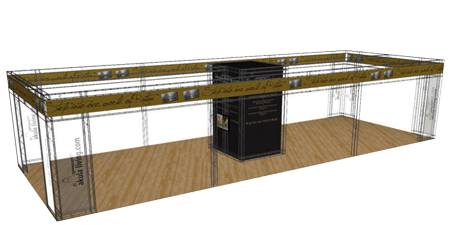 Custom Exhibition Stand Hire : Stand hire services display wizard stand services display wizard