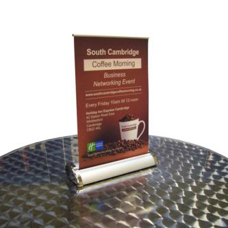 Desktop Banner Stands - Breeze Desktop A4 & A3 Banner Stand - Front
