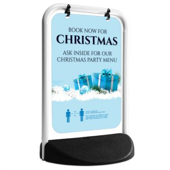 Christmas Party Pavement Swing Sign