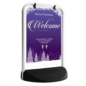 Merry Christmas Pavement Swing Sign