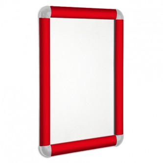 Poster Snap Frame 25mm Profile with Round Corners - Red