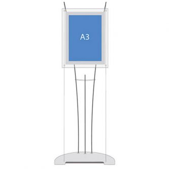 D3 Display Cable Lightbox - A3 Portrait (Stand Only)
