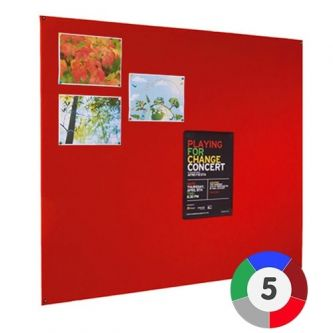 Adept Unframed Noticeboard - Red