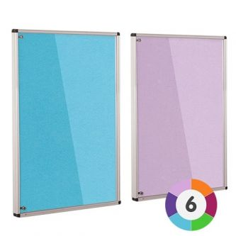 Adept ColourPlus Tamperproof Noticeboard - Cyan and Lilac