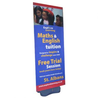 Arctic Outdoor Banner Stands - Single Sided - Front
