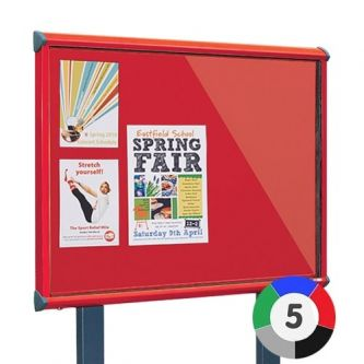 Adept Outdoor Showcase - Surface Posts - Red