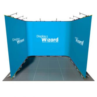 Twist - Modular Display Stands - 3m x 3m - Kit 5 - No End Caps