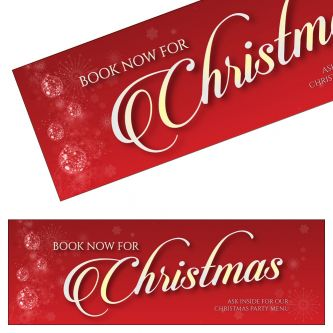 Christmas Bookings Banner - Red Design