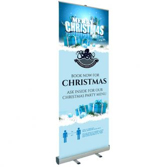 Christmas Booking Roller Banner - Design 2