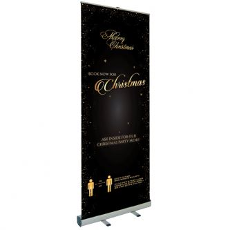 Christmas Booking Roller Banner - Design 1