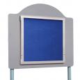Aluminium Frame / Blue Felt