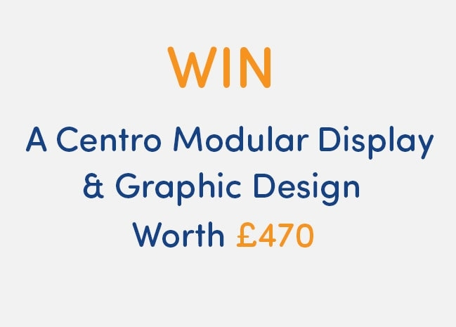 Win a Centro Modular Stand + Graphic Design worth £470