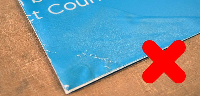 take care of your display stands edge delamination