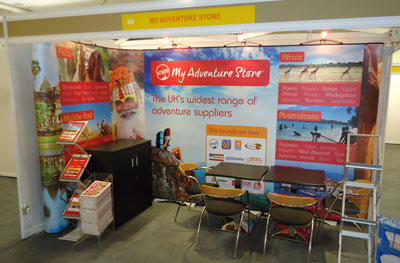 Exhibition stand in situ