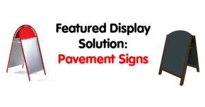 Pavement Signage Options