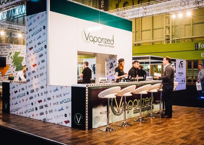 Vaporized Exhibition Stand Bar