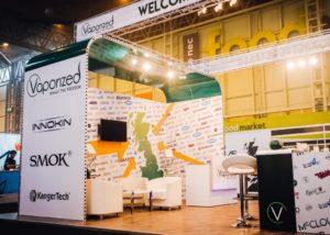 Vaprozed e-cigarette exhibition stand