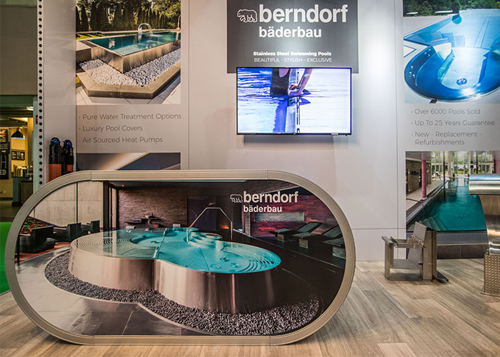 swimming pool exhibition stand