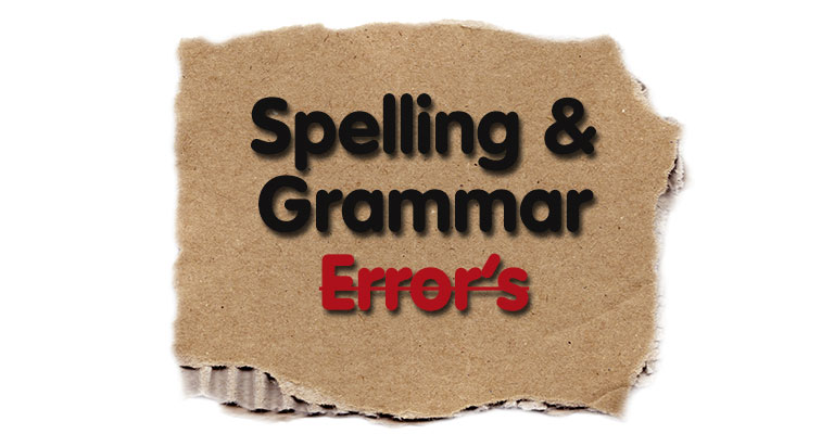 Print at Your Peril: 5 Fatal Spelling & Grammar Errors (and how to avoid them….)