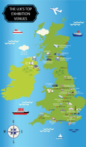 Best Exhibition Venues in Britain - Map
