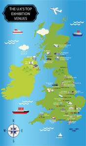 The UK's Top Exhibition Venues - Map