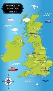 Best Exhibition Venues in Britain - Map