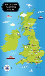 British Exhibition and Trade Show Venues Map