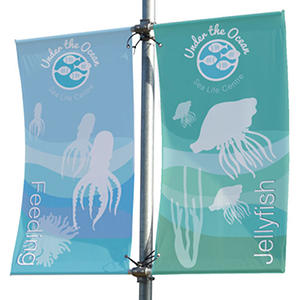 Mistral Lamp Post Banner Display - Double