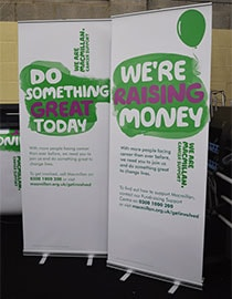 roller banners for charity