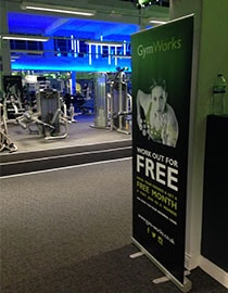 Roller banners for gyms