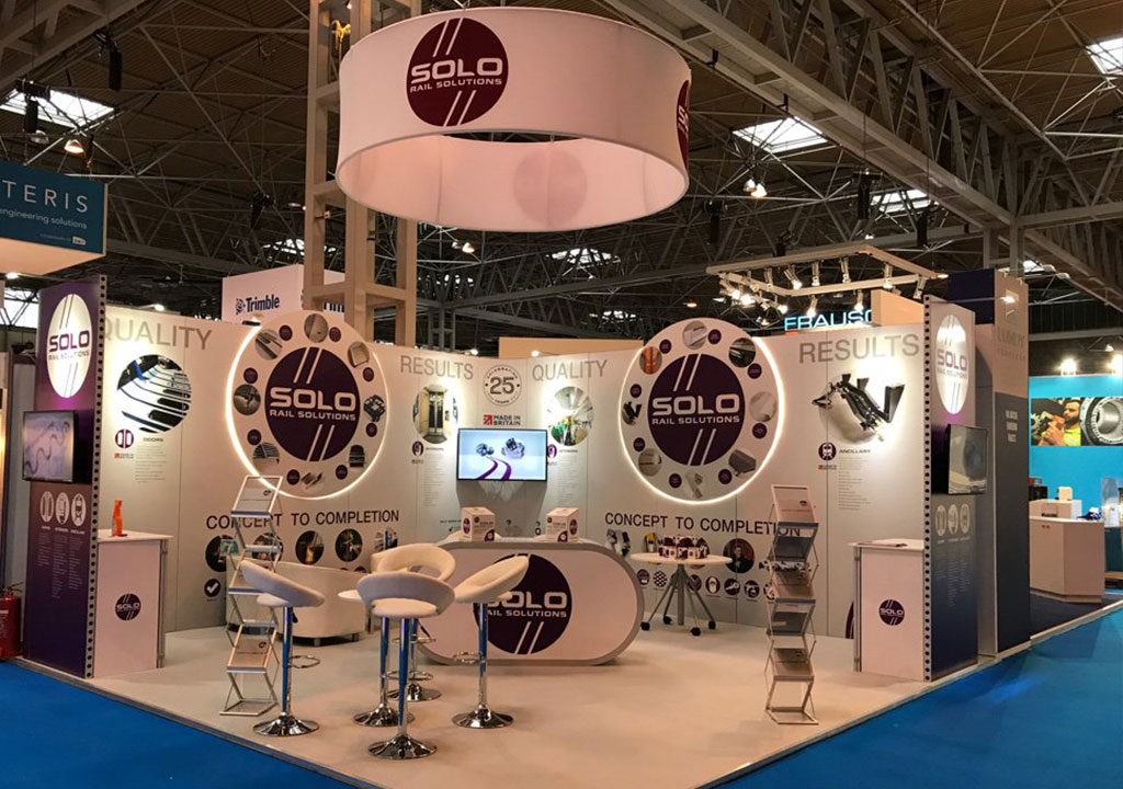 Exhibition stand trends - hanging structure