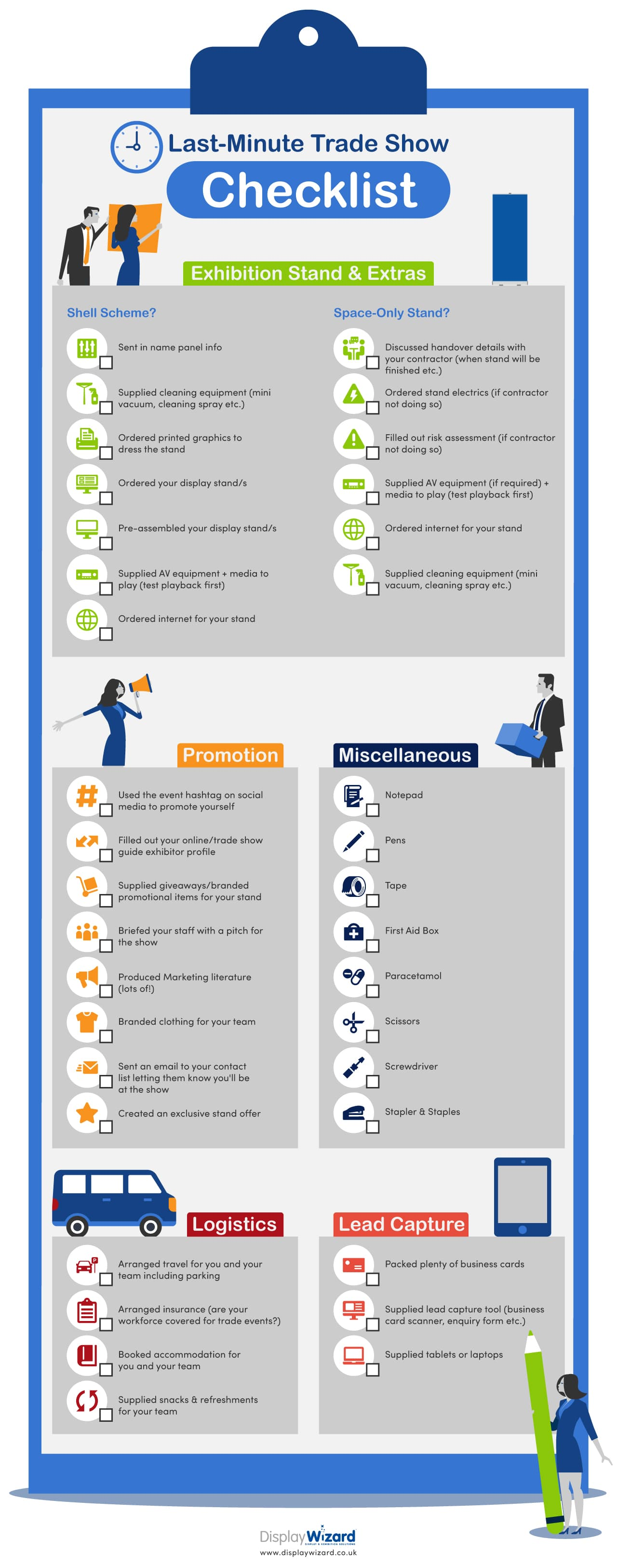 Trade Show Checlist Infographic