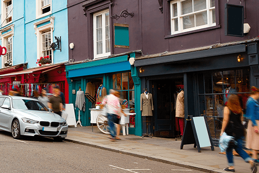 Retail attracting customers